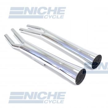 Honda CB650 Custom Performance Exhaust Motorcycle Mufflers Taper Chrome  001-3211