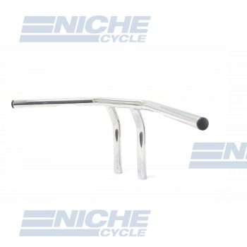 "T-Bar Handlebars 24""x8"" Chrome Dimpled 07-93422"