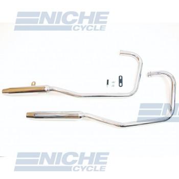 Honda 450 Rebel 86-87 2-2 MAC 2-Into-2 Chrome Taper Exhaust System 001-4021