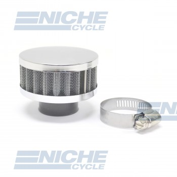 25MM Chrome End Cap Air Filter 12-50325