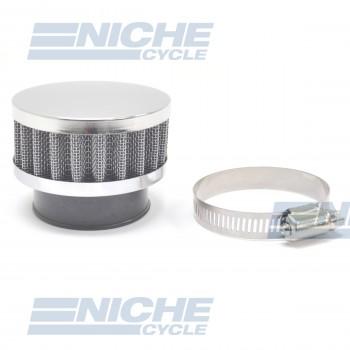 Compact 43mm Chrome End Cap Air Filter 12-50343