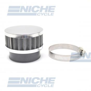 48mm Chrome End Cap Air Filter 12-50348