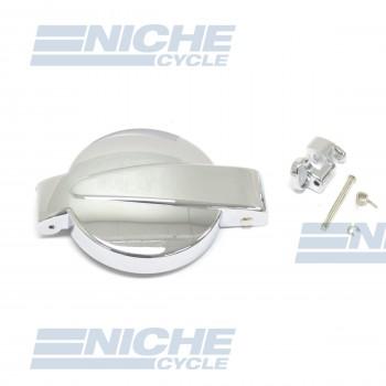 Honda Chrome Gas Tank Cap with Latch CB200-CB750 17510-323-310 43-73451