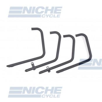 Honda CB500/4 CB550 4-4 Drag Pipes TT Black Exhaust System 201-0606