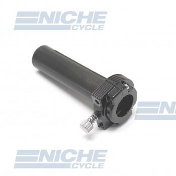 Harley Style Single Pull Throttle Assembly- Black 44-29450B