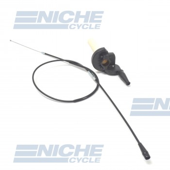 Quick Action Throttle Assembly With Cable - Black 44-97751