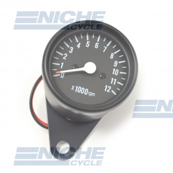 "Black 2.5"" Mini Tachometers with Handlebar Clamp 58-4367XB"