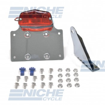 Universal Axle Mount Chrome Taillight & Plate Bracket 62-21551