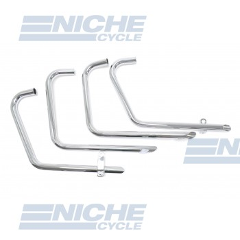Honda CB500/4 CB550 4-4 Drag Pipes TT Chrome Exhaust System 001-0606