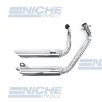 Yamaha Virago XV 500 MAC 2-Into-2 Chrome Turnout Exhaust System 004-0814