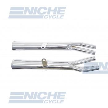Honda CB750 K 77-78 Motorcycle Mufflers Flare Tip Chrome  001-1511