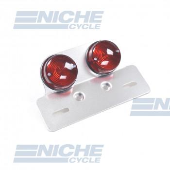 Dual Sportbike Style Custom Taillight - Round Lens 62-21570