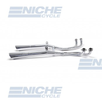 Honda 1100 Gold Wing Rolled 4-Into-2 Chrome Slash Cut Exhaust System 001-1084