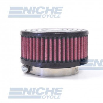 Round Straight Offset Air Filter - 62mm JR-591-01