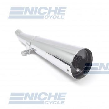 Honda CB400F Performance Exhaust Motorcycle Muffler Megaphone Chrome  001-0513