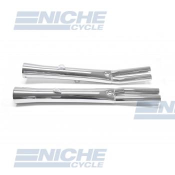 Kawasaki KZ900 Performance Exhaust Motorcycle Mufflers Flare Tip Chrome  002-0411