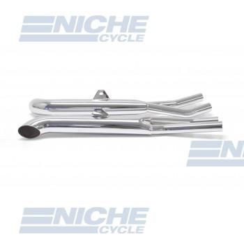 Honda CB750 K & Custom Performance Exhaust Motorcycle Mufflers Turnout Chrome  001-1610