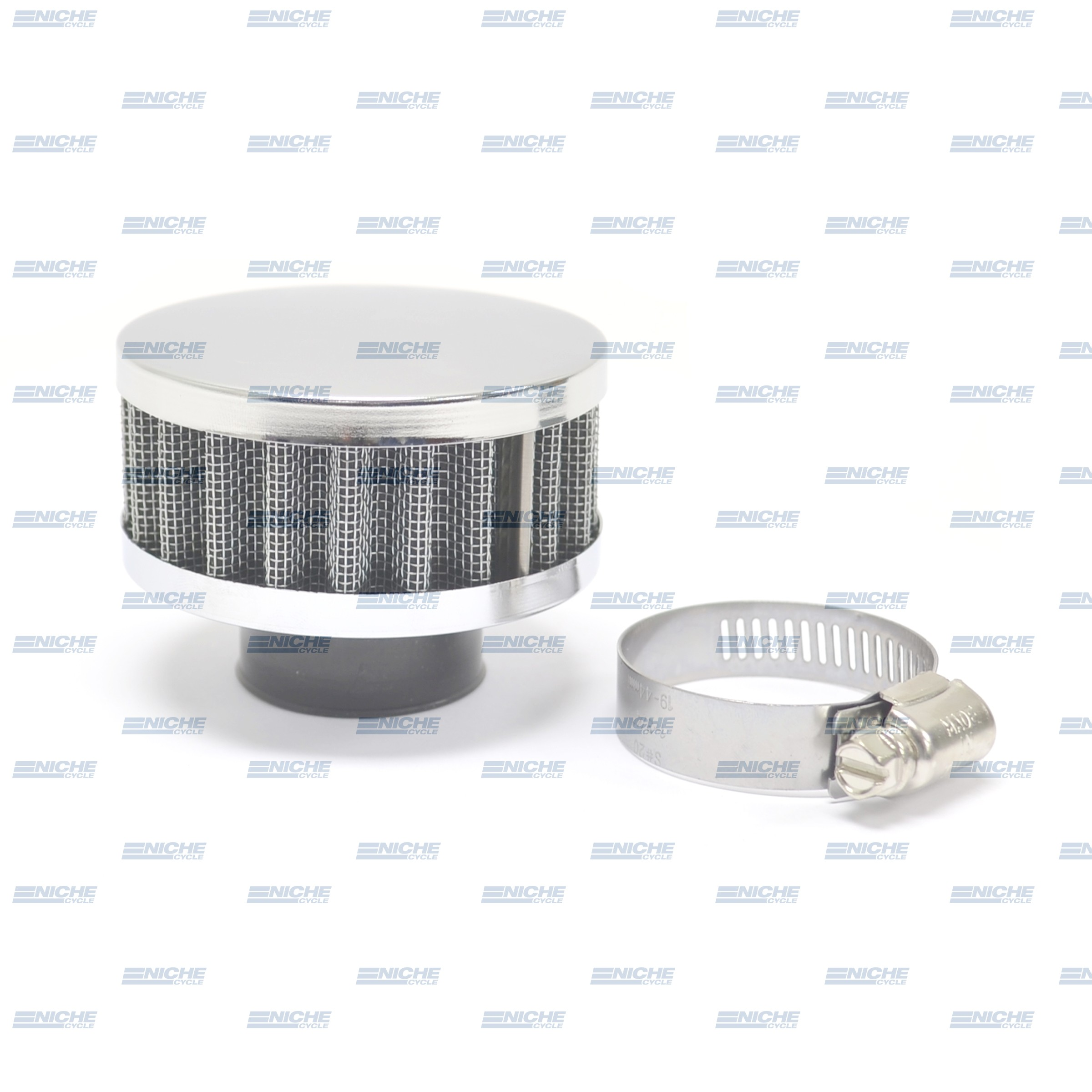 32MM Chrome End Cap Air Filter 12-50332