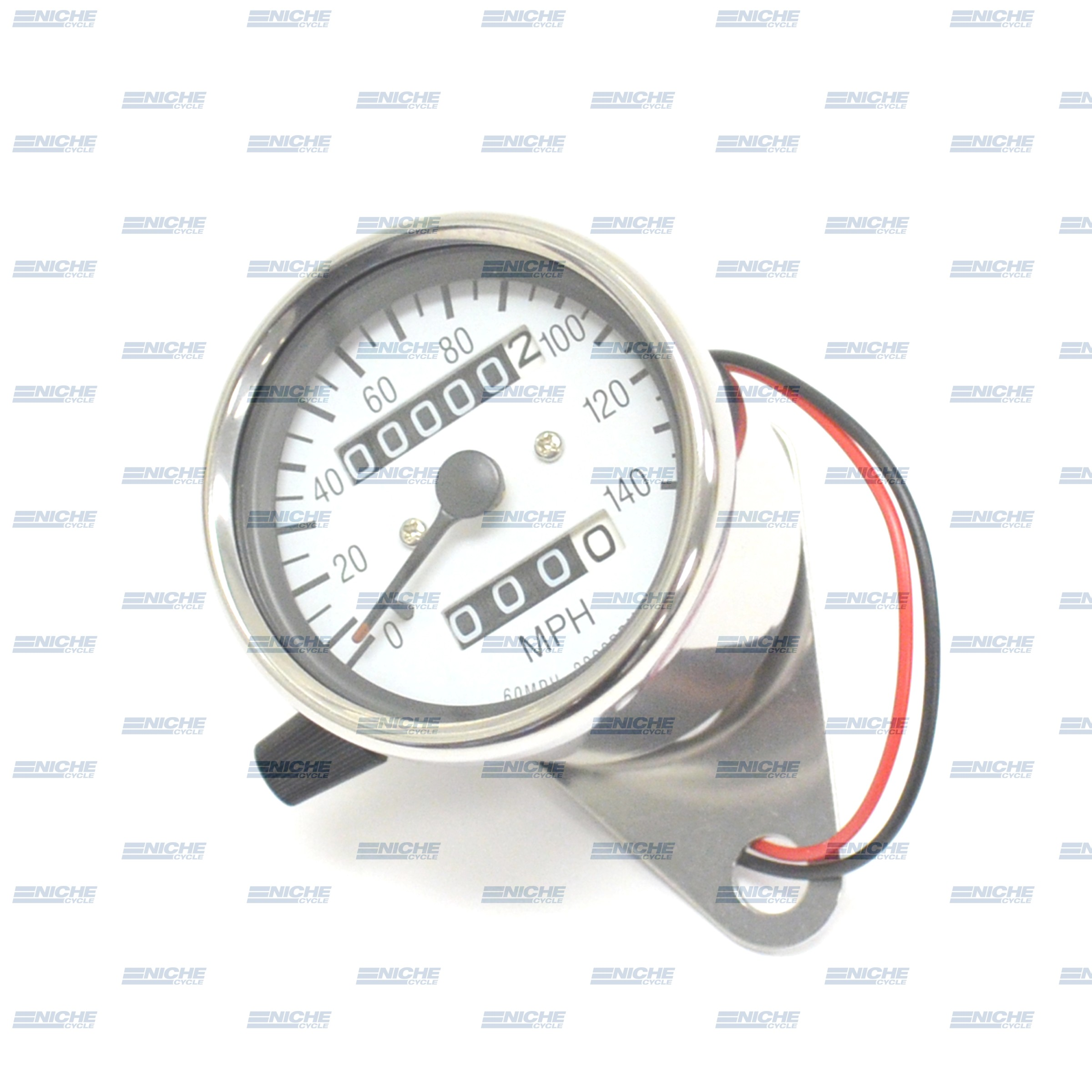 Mini Speedo 2:1 Trip/Bracket White Face 58-43666A