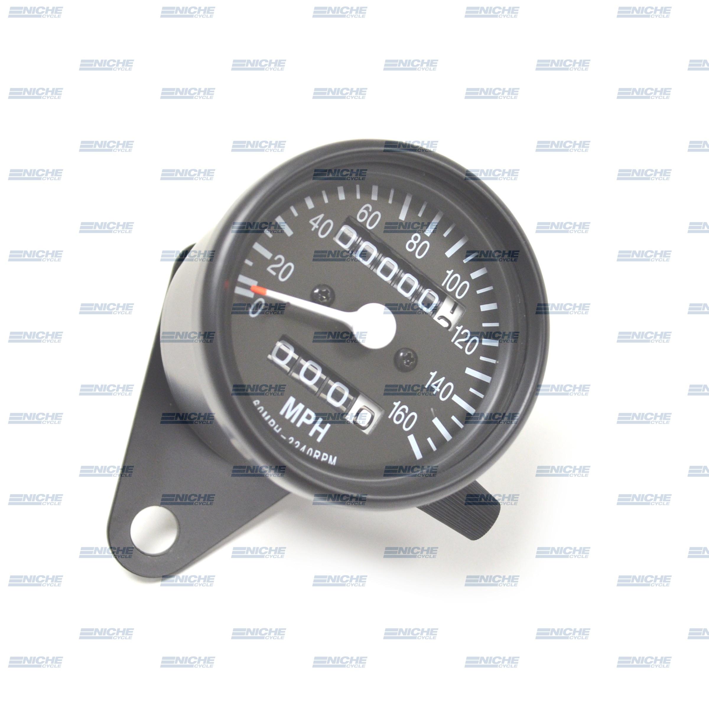 Mini Speedo 2.1:1 ODO/Trip Black 58-43667B