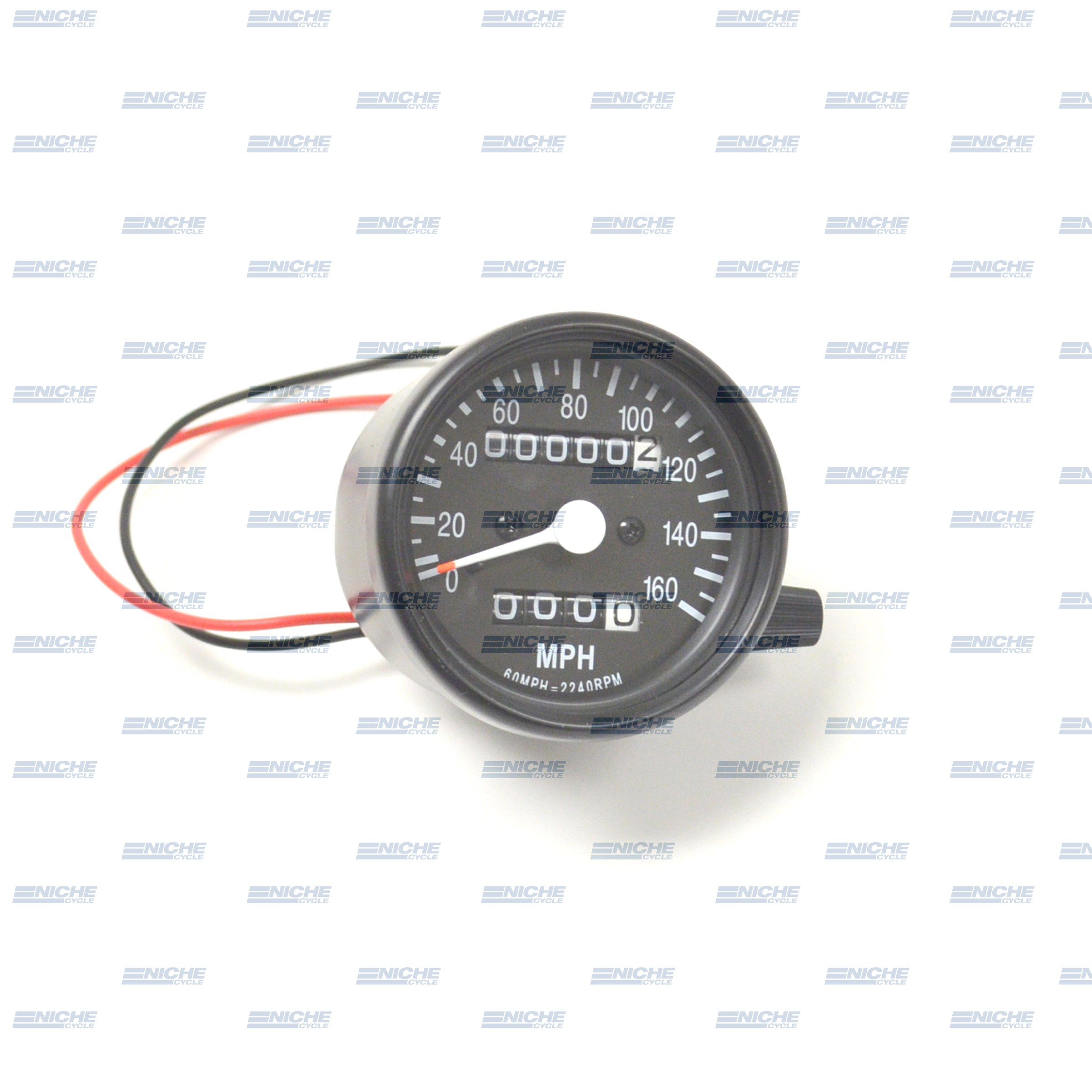 Mini Speedo 2.1:1 ODO/Trip Black 58-43669B