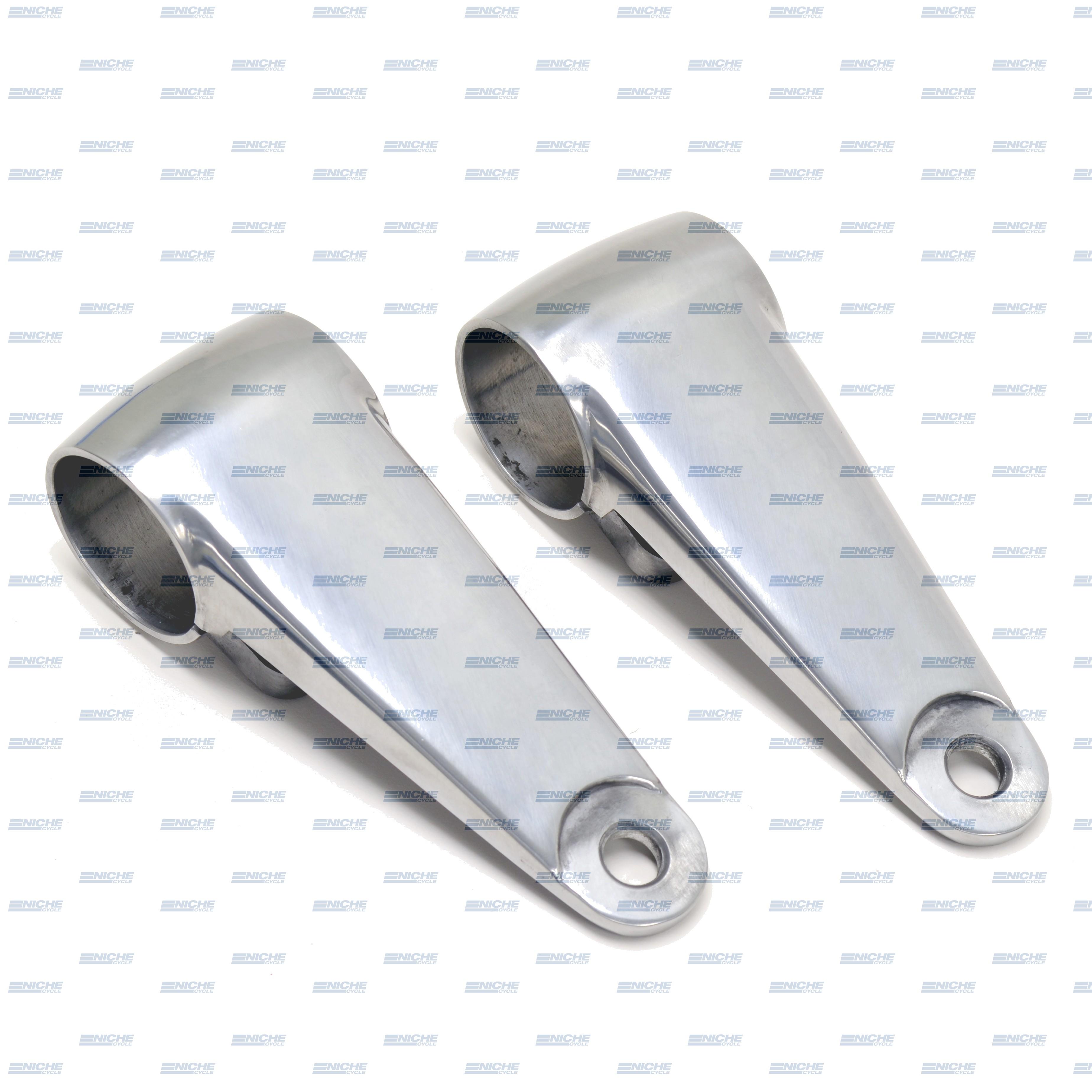 Headlight Brackets - Polished W/Shims 66-35830