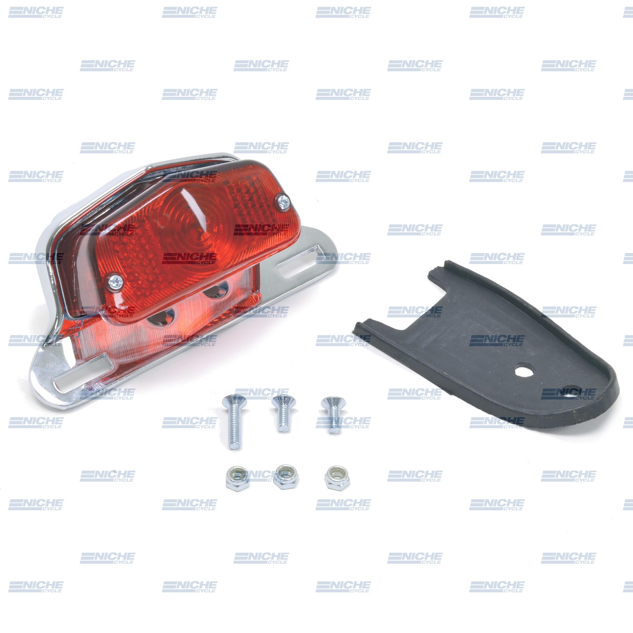 Classic Lucas-Style Satin Chrome Taillight   62-21510