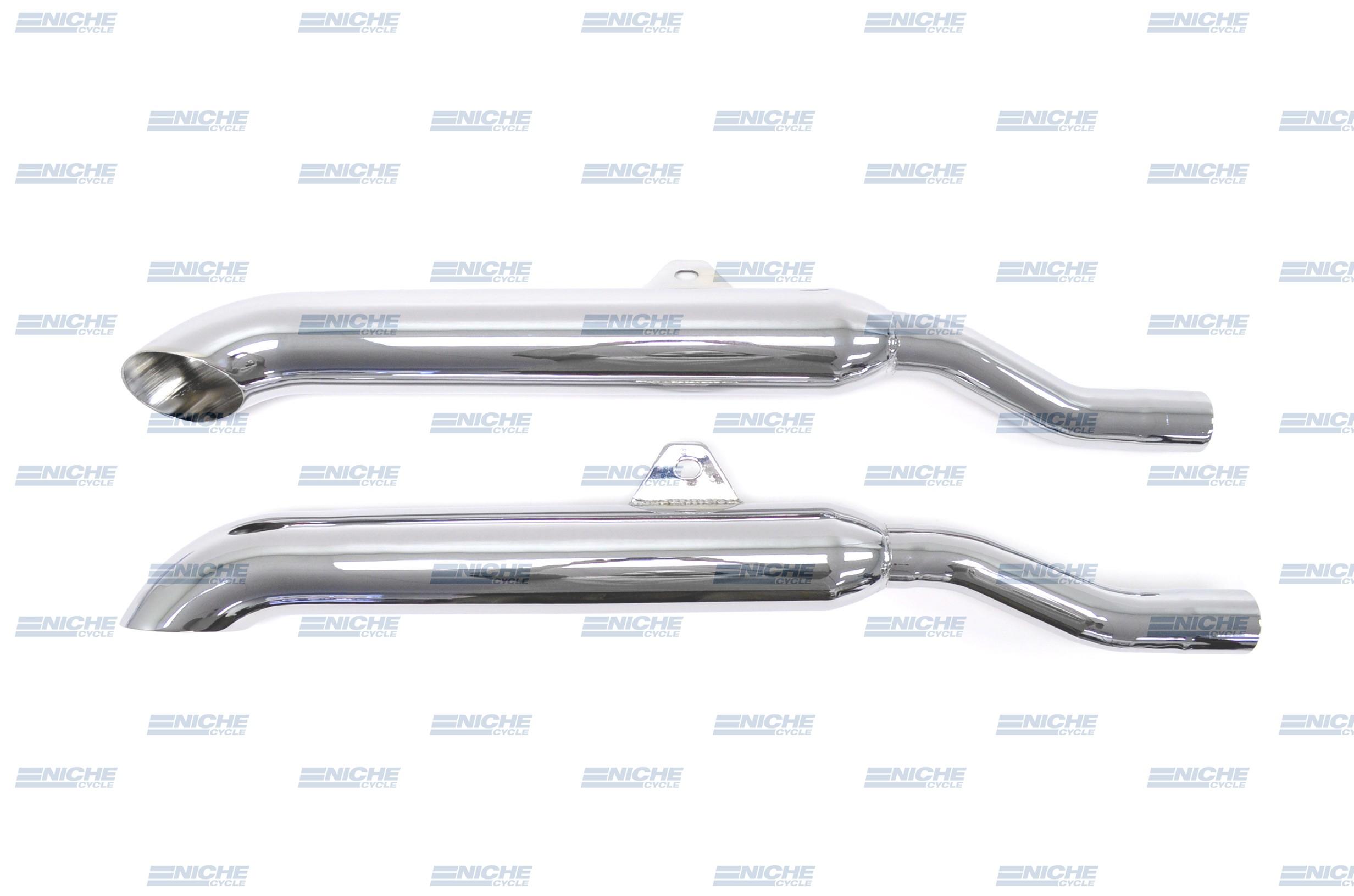 Honda GL1000 Gold Wing 1000 Touring Performance Mufflers Chrome Turndown 001-1715