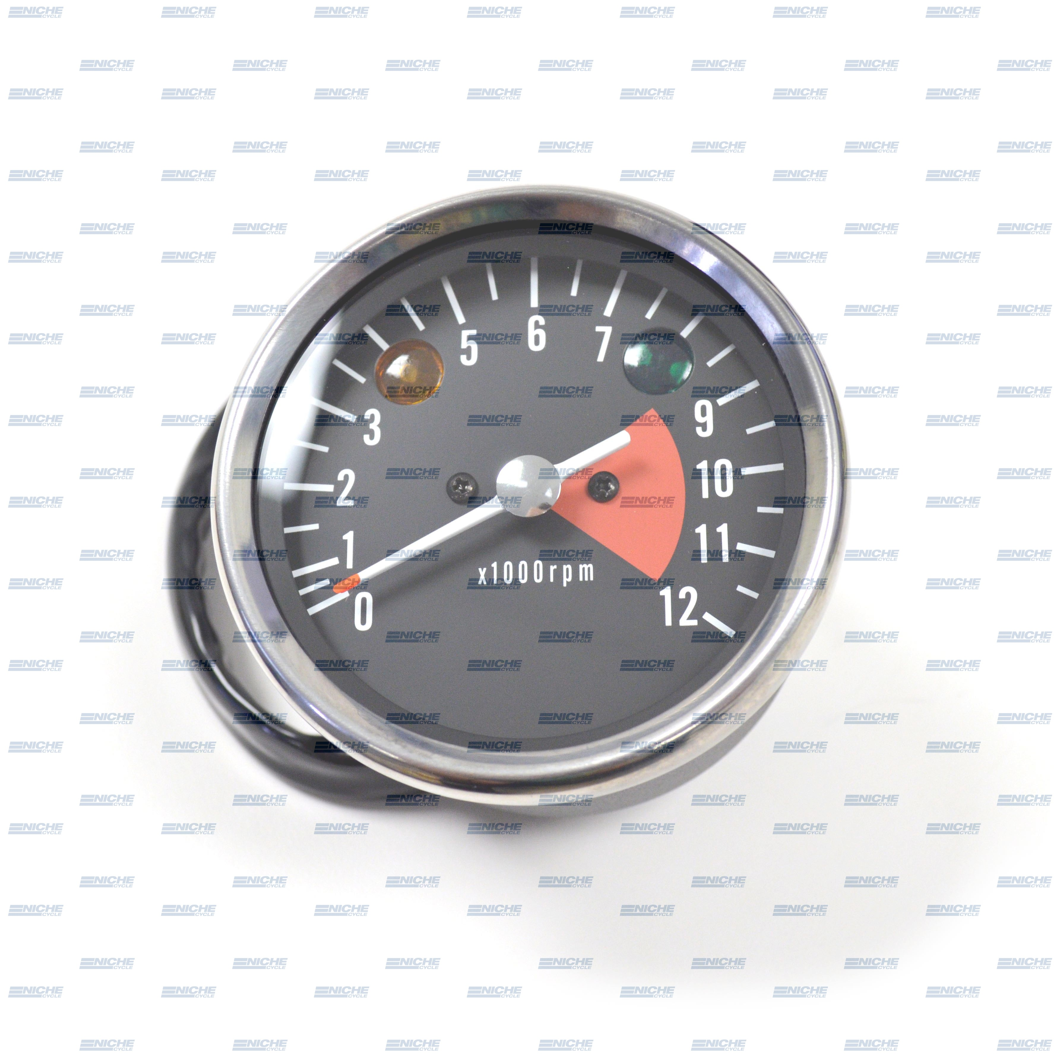 Kawasaki H1 Replica Tachometer Gauge 12K RPM 58-43696
