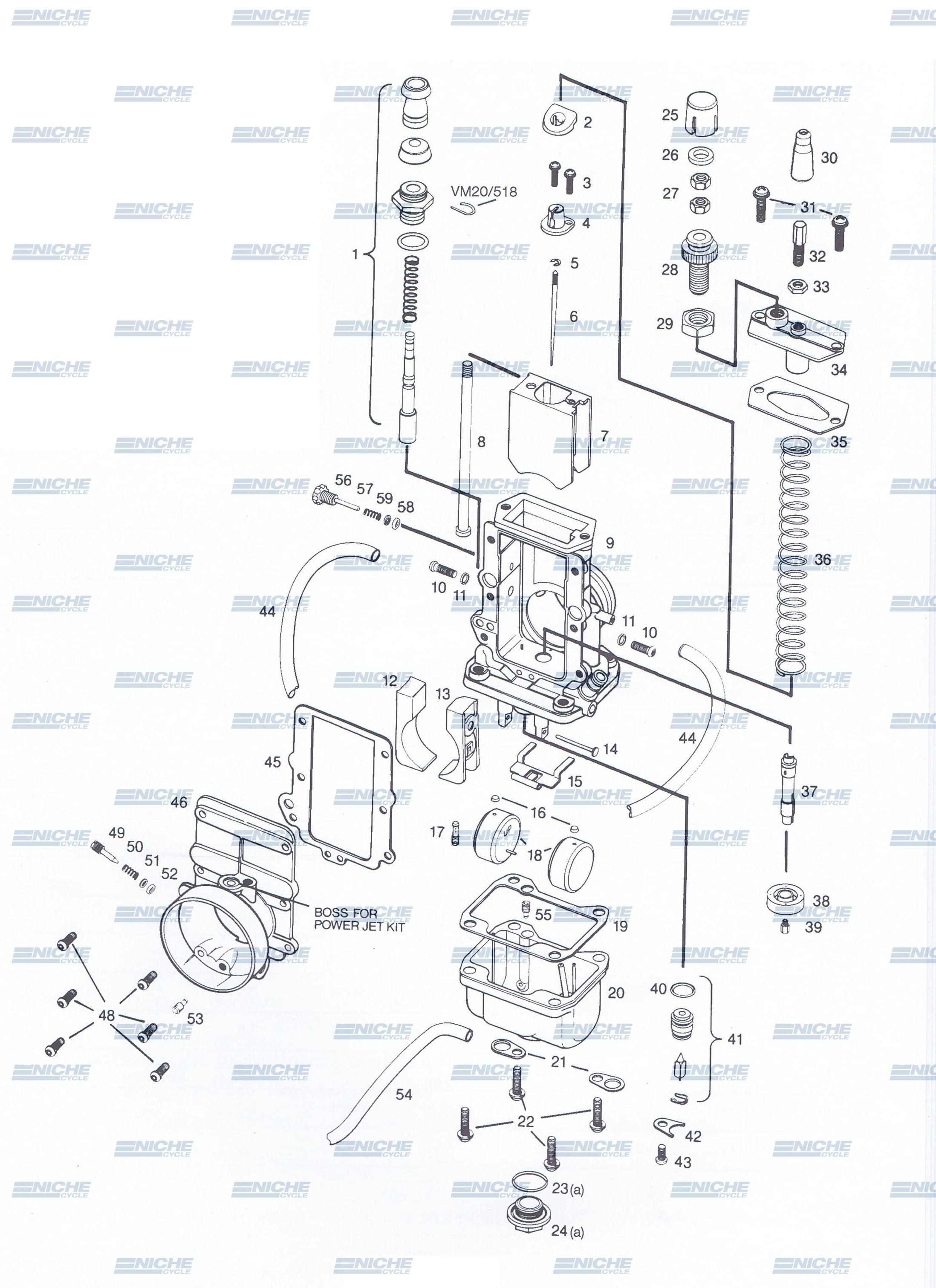 Mikuni TM38-85 Exploded View - Replacement Parts Listing TM38-85_parts_list
