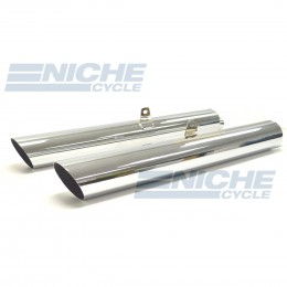 Honda GL1800 Gold Wing 1800 Touring Performance Mufflers Chrome Slash Cut 001-1118