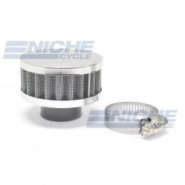 36MM Chrome End Cap Air Filter 12-50336