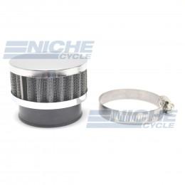 50mm Chrome End Cap Air Filter 12-50350