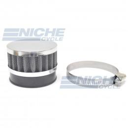 60mm Chrome End Cap Air Filter 12-50360