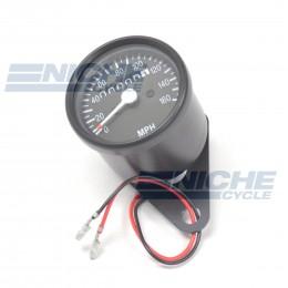 Mini Universal Black Motorcycle Mechanical 160 MPH 58-43680B
