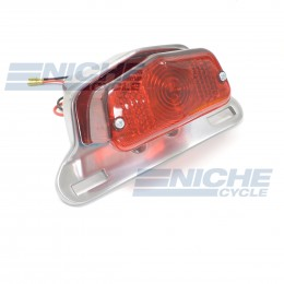 Lucas Style Taillight & Plate Holder - Polished 62-21510P