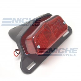 Lucas Style Taillight & Plate Holder - Satin Black 62-21510S