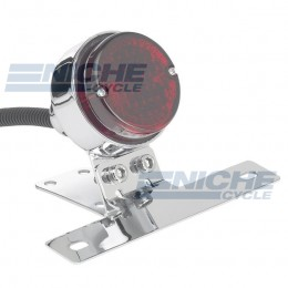 Round Classic Style Taillight - Chrome 62-21514