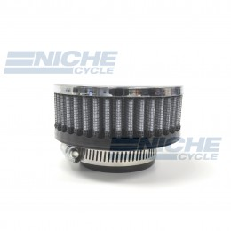 """Universal, Chrome-Faced, Air Filter, 1-3/4"""" (45mm) Inlet RC-17"""