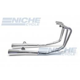 Honda CB550 Nighthawk SC MAC 4-Into-2 Chrome Megaphone Exhaust System 001-3409