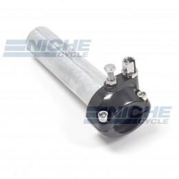"1"" Single Pull Black Throttle Assembly 44-29472B"