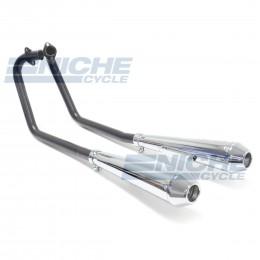 Honda CB350 2-2 Black/Chrome Reverse Cone NCS001-0133BC