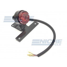Round Classic Style Taillight - Black