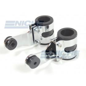 Chromed Aluminum Headlight Brackets - Heavy Duty