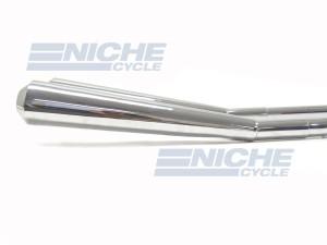 """1.75"""" Kick Up Upswept Straight Thru Mufflers Exhaust Reverse Cone Chrome 1-3/4"""" 009-0513K"""