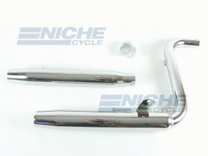 Honda VT1100 Shadow 85-86 Taper Slip On Motorcycle Mufflers Exhaust Taper Chrome  001-3316