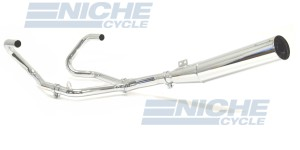 BMW 1980-1985 RS & RT w/ Thermostat 2-Into-1 Chrome Megaphone Exhaust System 006-0903