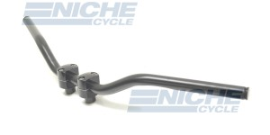 "Handlebar - 1"" Superbike Satin Black -Dimpled 07-12526S"