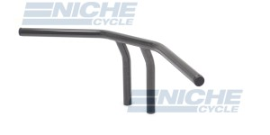 "T-Bar Handlebars 24""x8"" Gloss Black Dimpled 07-93422B"