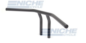 "T-Bar Handlebars 24""x8"" Satin Black Dimpled 07-93422S"